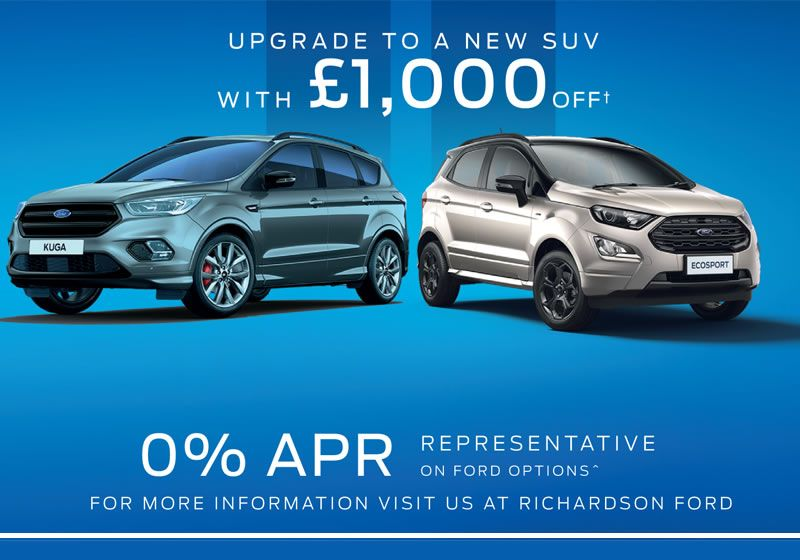 Upgrade to a new SUV with £1000 OFF*